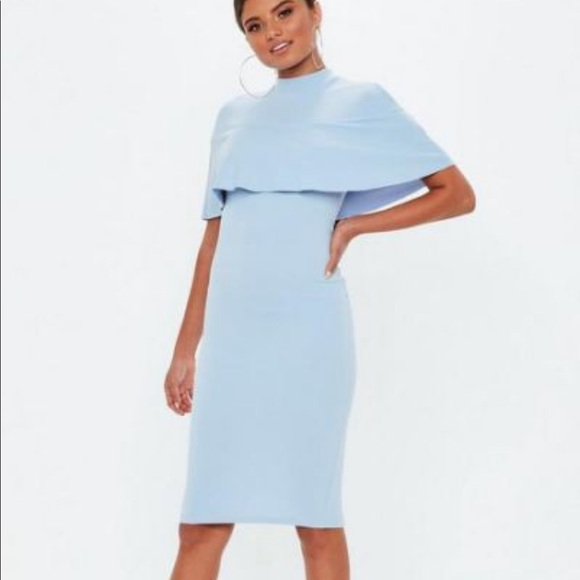 Missguided Dresses & Skirts - Missguided cape dress baby blue nwt